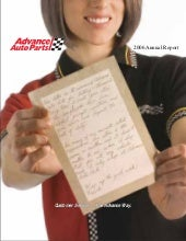 advance auto parts 2006AnnualReport