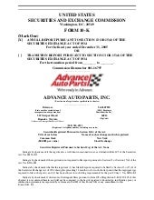 advance auto parts AAP200510K