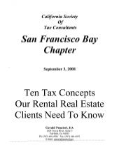 San Francisco Bay Chapter Ten Tax C...
