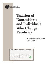 FTB Publication 1100 Taxation of No...