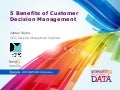 Customer Decision Management - 5 Benefits