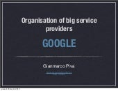 Organisation of big service provide...