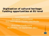 Digitisation of Cultural Heritage: ...