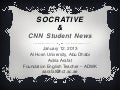 Socrative & CNN News -  Adria Arafat - 12 jan 2013 - Al Hosn University