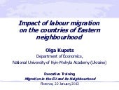 Impact of labour migration on the c...