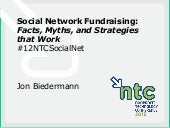 Social Network Fundraising: Facts, ...