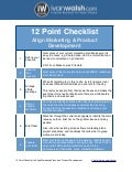 12 Point Checklist - Align Marketing Plans and Product Development