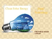 Solar Energy-DSSC technology