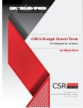 CSR in Budget Crunch Times:  12 strategies for success