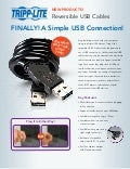 Reversible USB Cables from Tripp Lite