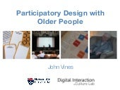 Participatory design and older people