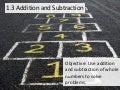 1.3 Adding and Subtracting