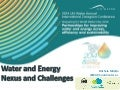 Water and Energy Nexus and Challenges by Michela Miletto, World Water Assessment Programme (WWAP), Coordinator a.i.
