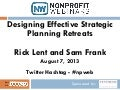 Designing Effective Strategic Planning Retreats