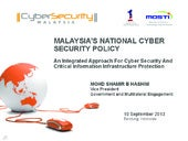 Malaysia's National Cyber Security ...