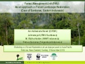 Forest Management Unit (FMU): As an approach in Forest Landscape Restoration (Case of Sumbawa, Eastern Indonesia)