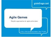 Agile Games - Playful approaches to agile principles