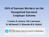 OHS of Samoan Workers on the Recogn...
