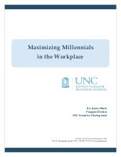 Maximizing Millennials in the Workp...