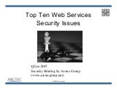 Soa And Web Services Security