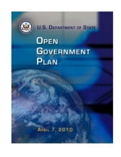 State Dep't Open Gov Plan