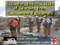 Evaluating the Process of Learning from Environmental Disasters