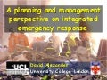 NATO-ATC: Planning and Management Perspective on Integrated Emergency Response