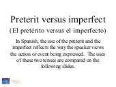 13 preterit versus imperfect