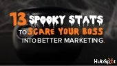 13 Spooky Stats to Scare Your Boss Into Better Marketing