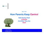 How Parents Keep Control Both Durin...