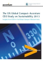 India Report: The UN Global Compact...