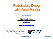 Participatory Design with Older People (Feb 2014)