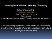 Learning Leadership For Leadership ...