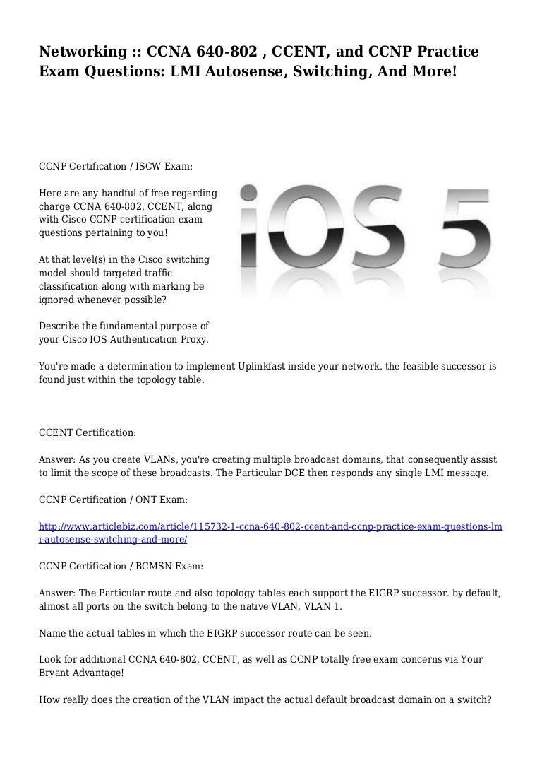 Cisco Ccna Exams Free Certification Exam Questions Oukasfo