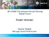 2014 Transmission Annual Planning Report - Asset renewal