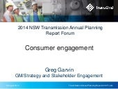 2014 Transmission Annual Planning Report - Consumer engagement