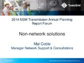 2014 Transmission Annual Planning Report - Non-network solutions