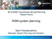 2014 Transmission Annual Planning Report - NSW system planning