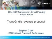 2014 Transmission Annual Planning Report - Revenue proposal