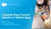 3 Experts Share Tips for Salesforce1 Mobile Apps