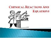 chemical equation and reaction