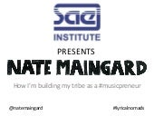 Guest Lecture on Music Entrepreneurship by Nate Maingard