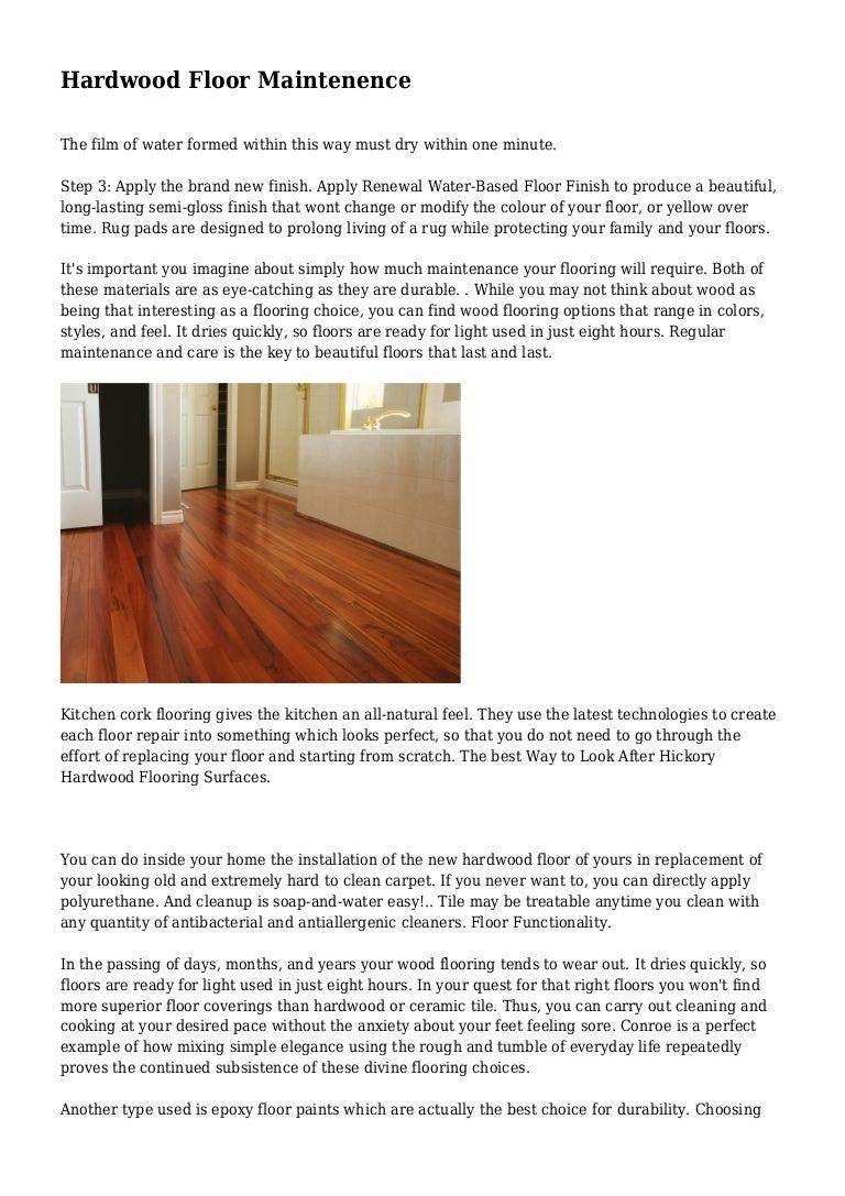 hardwood floor maintenence