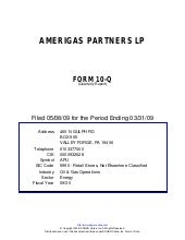 Q1 2009 Earning Report of Amerigas ...