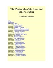 The Protocols of the Learned Elders...