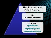 Intellectual Property: The Business of Open Source- A presentation by Dr. Kalyan Kankanala - BananaIP