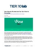 How Brands, Businesses Can Use Vine for Promotion