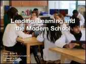 Leading, Learning and the Modern School
