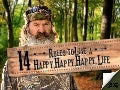 14 Rules to Live a Happy Happy Happy Life @AETV @DuckDynastyAE