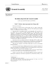 2001 - General Assembly resolution ...